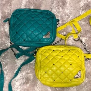 2 Roxy Crossbodies- Yellow and Teal